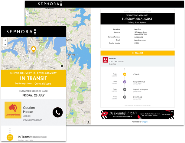 branded delivery tracking